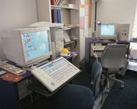 バリアフリーのコンピュータ 大きいキーボード