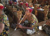 ガムランの奏者たち