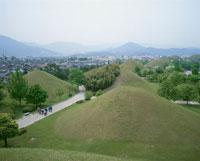 古墳公園 慶州 5月 韓国