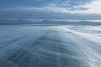 アイスランドの雪道