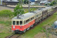 琴平電鉄のレトロ電車(4連)