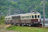 琴平電鉄のレトロ電車(3連)