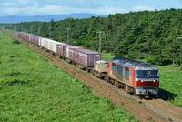 室蘭本線のDF200牽引貨物列車