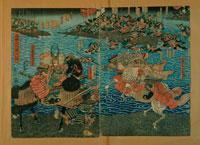 川中島合戦錦絵 長野県立歴史館