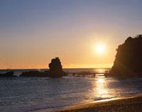 波立海岸の初日の出