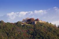 紅葉の津和野城跡