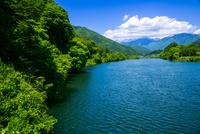 木曽川と中央アルプス方面