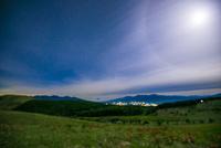 幻月環と霧ヶ峰高原踊場湿原と八ヶ岳連峰南アルプス