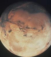 火星 赤道付近はマリナー峡谷
