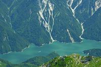 立山 大汝山から黒部湖俯瞰