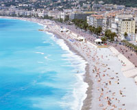 「天使の湾」のビーチ