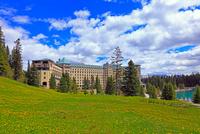 ホテル・フェアモント・シャトー・レイク・ルイーズ 25801014890  写真素材・ストックフォト・画像・イラスト素材 アマナイメージズ