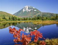 羅臼湖より羅臼岳を望む 25802006775| 写真素材・ストックフォト・画像・イラスト素材|アマナイメージズ