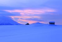 冬の丘と夜明け