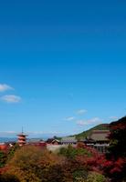清水寺舞台から三重ノ塔の紅葉