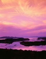 登茂山展望台より望む英虞湾夕景