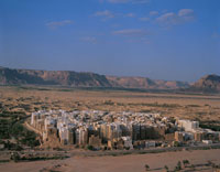 シバムの町並 9月  イエメン
