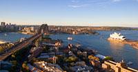 シドニー湾とオペラハウス ハーバー・ブリッジ 25826022833| 写真素材・ストックフォト・画像・イラスト素材|アマナイメージズ