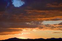 日没のメサベルデ国立公園
