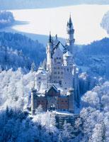 厳冬のノイシュバンシュタイン城