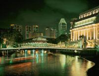 シンガポール川とガヴェナ橋方面 25867018881| 写真素材・ストックフォト・画像・イラスト素材|アマナイメージズ