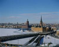 冬の市街 ストックホルム スウェーデン
