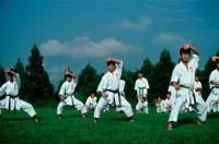 空手の少年達 25890001155  写真素材・ストックフォト・画像・イラスト素材 アマナイメージズ