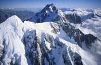 セフトン山とクック山 サザンアルプス  マウントクック国立公園