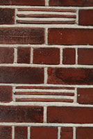 red clay brick,tile and mortar wall