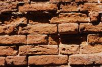 Background Brick Wall  with narrow bricks