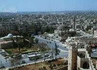 アレッポ城より街並 アレッポ 4月 シリア