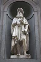レオナルド・ダヴィンチ像 ウフィツィ美術館