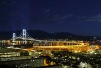 白鳥大橋と室蘭の夜景