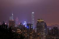 スタッブスロード展望台から香港の夜景