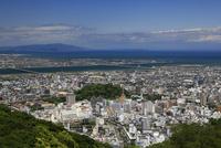 眉山山頂から徳島市街の俯瞰
