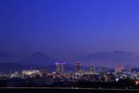 静岡市から富士山の夜明け