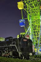 国分城山公園に展示中の蒸気機関車