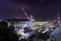 造船所の夜景