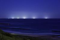 潮見公園から沖の漁火の夜景