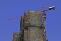 中国の建設中のビル
