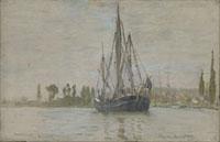 ルーアン近郊にて錨をおろす船 26004000186| 写真素材・ストックフォト・画像・イラスト素材|アマナイメージズ