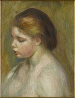 若い女の裸体(上半身)