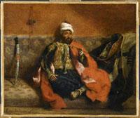 煙草を吸うトルコ人 ドラクロワ 26004003289| 写真素材・ストックフォト・画像・イラスト素材|アマナイメージズ