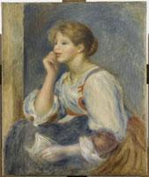 手紙を持つ女   ルノワール