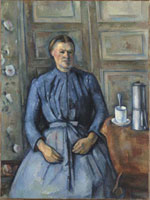 コーヒー沸かしのある婦人像