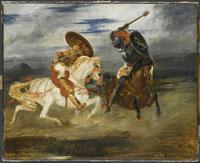 騎士の戦い ドラクロワ 26004003844| 写真素材・ストックフォト・画像・イラスト素材|アマナイメージズ