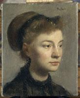 若い女の肖像 ドガ