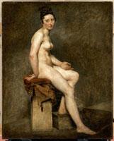 裸婦 ゲランのアトリエのモデル ローズ嬢 26004015280| 写真素材・ストックフォト・画像・イラスト素材|アマナイメージズ