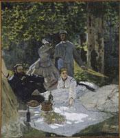 草上の昼食(右パネル)