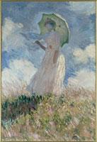 日傘の女(左向き)